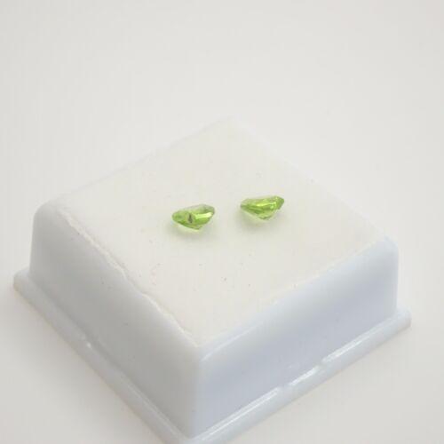 Loose Gemstones Matched Pair of Peridot 6x6mm Heart Shape Peridot 1.30ctw