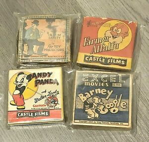 Anitque-Vintage-16mm-Film-Reels-Movies-Charlie-Chaplin-Andy-Panda-Lot-of-4