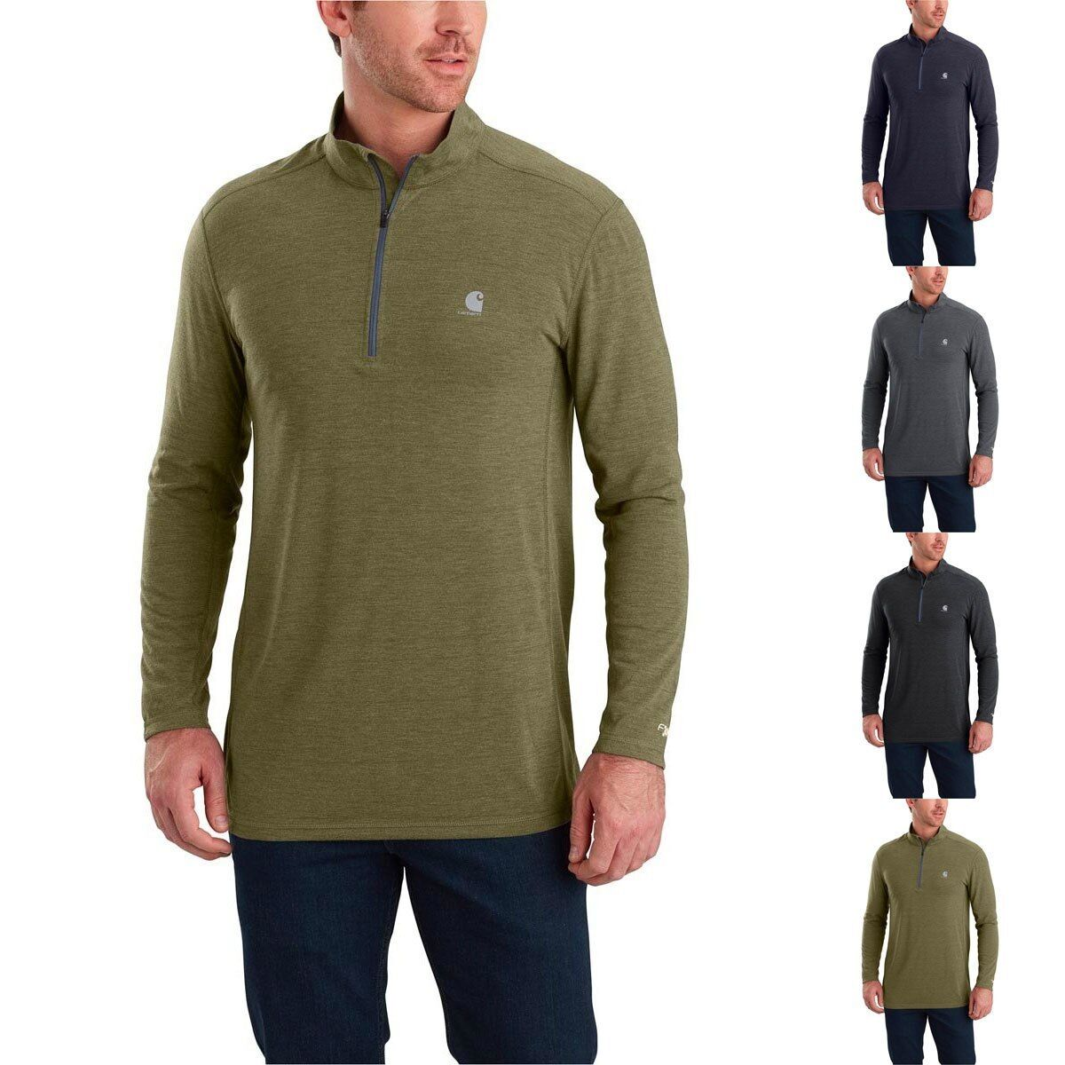 Carhartt Men's Force Extremes Long Sleeve Half Zip