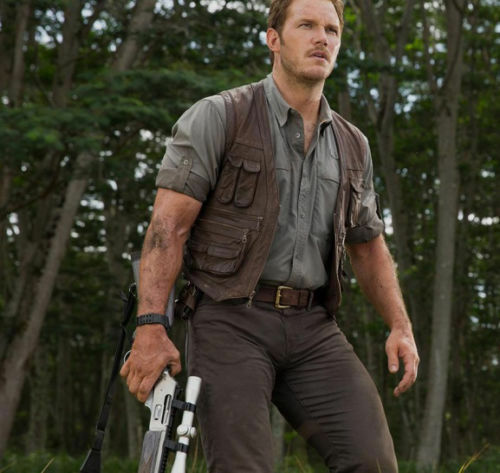 JURASSIC WORLD Chris PRATT Owen Grady Gilet in Pelle
