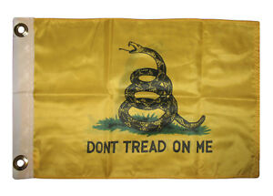 """12x18 Gadsden Yellow Snake Rough Tex Knit Double Sided 12/""""x18/"""" Car Vehicle Flag"""