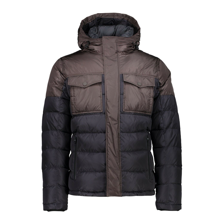 CMP PIUMINO UOMO 38k2817 uomo Jacket Fix Hood Giacca Invernale Grigio Antracite