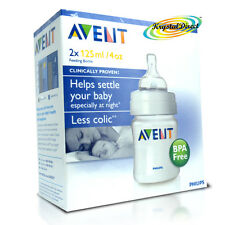 Philips Avent Baby Milk Feeding Bottles 125ml 2 Pack Colic BBA Free SCF680/27