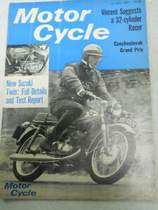 Image is loading Motor-Cycle-Magazine-July-27-1967-New-Suzuki-