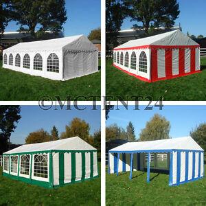 XXL Partyzelt 3x6 - 6x12m Pavillon Festzelt 500g/m² PVC  + Stahlgestell NEU