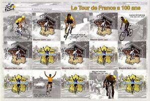 Bloc-Feuillet-BF59-Le-Tour-de-France-a-100-ans-2003
