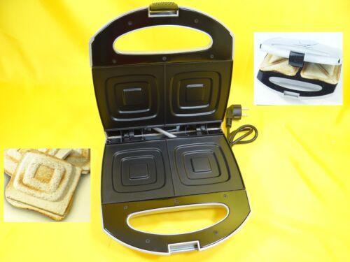 Sandwich Grille-pain//Sandwichmaker 750 watts//Cool-Touch//Argent