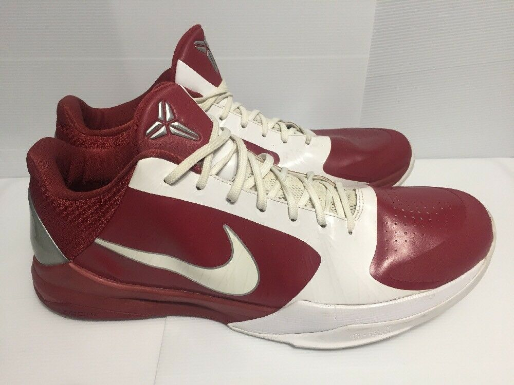 low priced adf7f 9c949 Nike Basketball Zoom Kobe V 5 TB Red Red Red   White (407710-611) 2010 Size  17.5 33a9aa