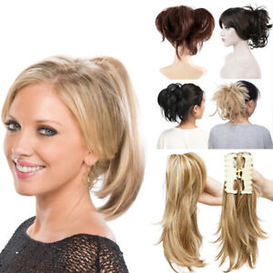 UK-Women-Lady-Clip-In-Messy-Ponytail-Pony-Tail-Hair-Extension-Claw-On-Hair-Piece
