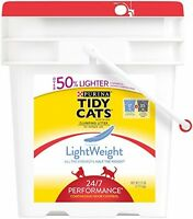 Tidy Cats Cat Litter, Clumping, 24/7 Performance, Lightweight, 17-pound Pail Of