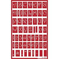 Over N Over Self Stick Reusable Glass Etching Stencils Alphabet Uppercase
