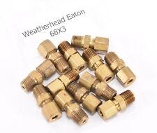 CA360 Brass EATON Weatherhead 63X5 Male Ball Check Connector 1 Tube OD 1//8 Male Pipe Size