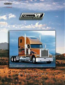1990 Freightliner Classic Xl Raised Roof Poster Style Dealer Sales Brochure Ebay