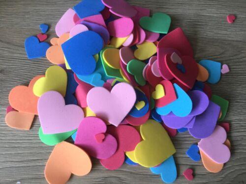 200 Piezas Amor Corazón Forma de la espuma de EVA Adorno Hágalo usted mismo Scrapbooking Craft