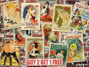 Vintage-High-Quality-French-Advertisement-Retro-Posters-Art-Nouveau-Prints-A4