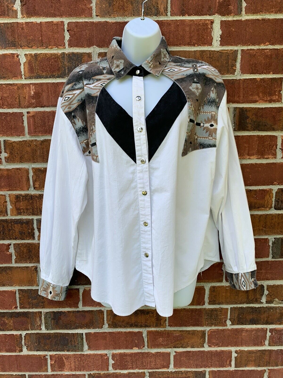 Vintage Women/'s Aztec Western Roughtrider Vest Button Down  Women/'s Size X-Small  USA Made