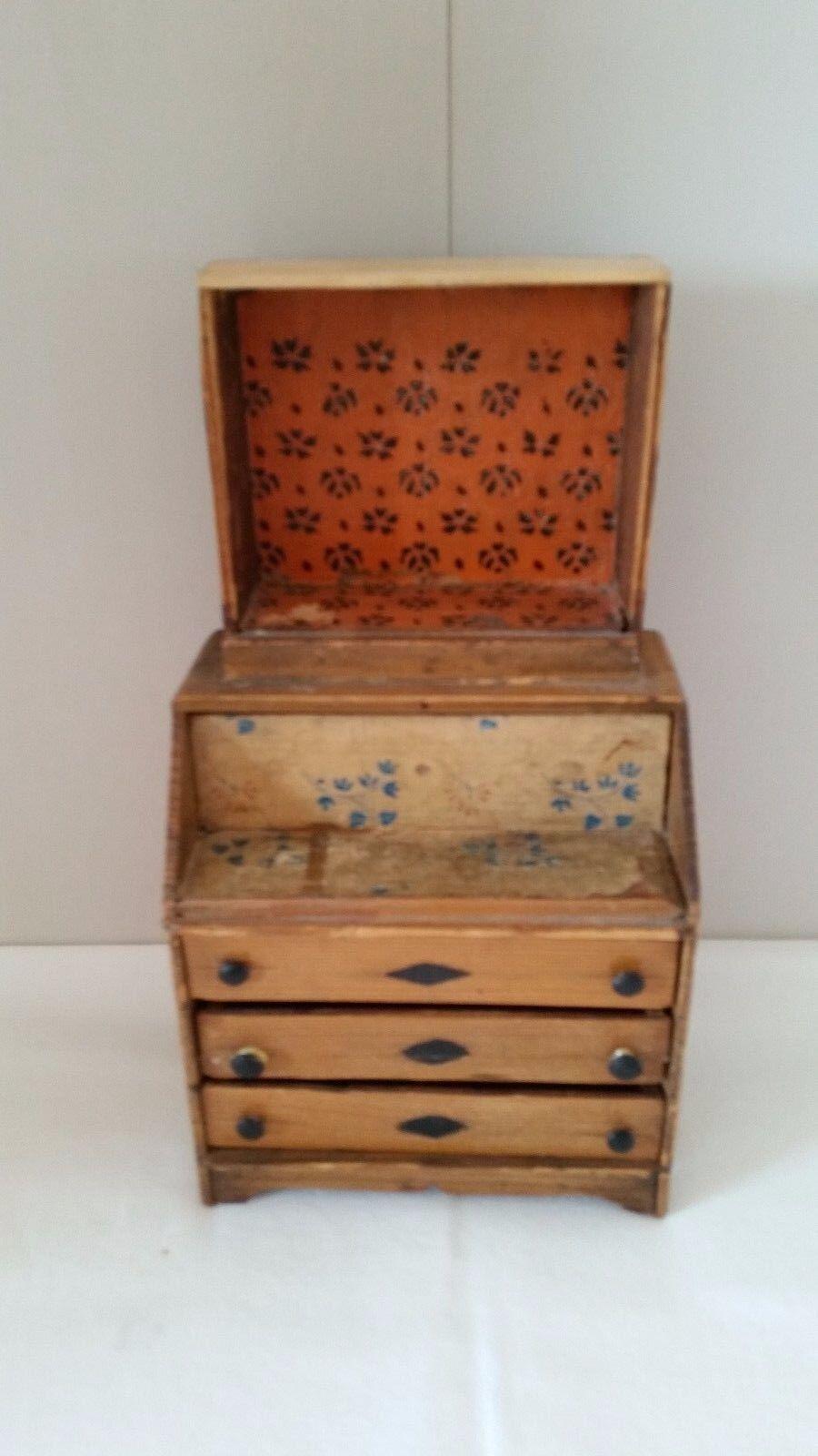 Antique Dollhouse Wood Sideboard Cabinet Salesman Sample