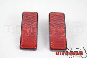 2pcs-Plastic-5mm-Thread-Red-Rectangle-Reflector-For-Car-ATV-Dirt-Bike-Universal