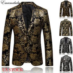 Men-Blazer-Coat-Jacket-Outwear-Sequin-Suit-Formal-Business-Star-Stage-Club-Suit