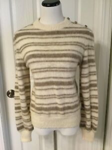 VTG Hilda LTD Women s 100% Icelandic Wool Natural Colors Striped ... 065793b2d