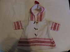 AMERICAN GIRL DOLL KIRSTENS WHITE WOOL & RED SKATING COAT RARE VHTF ONLY
