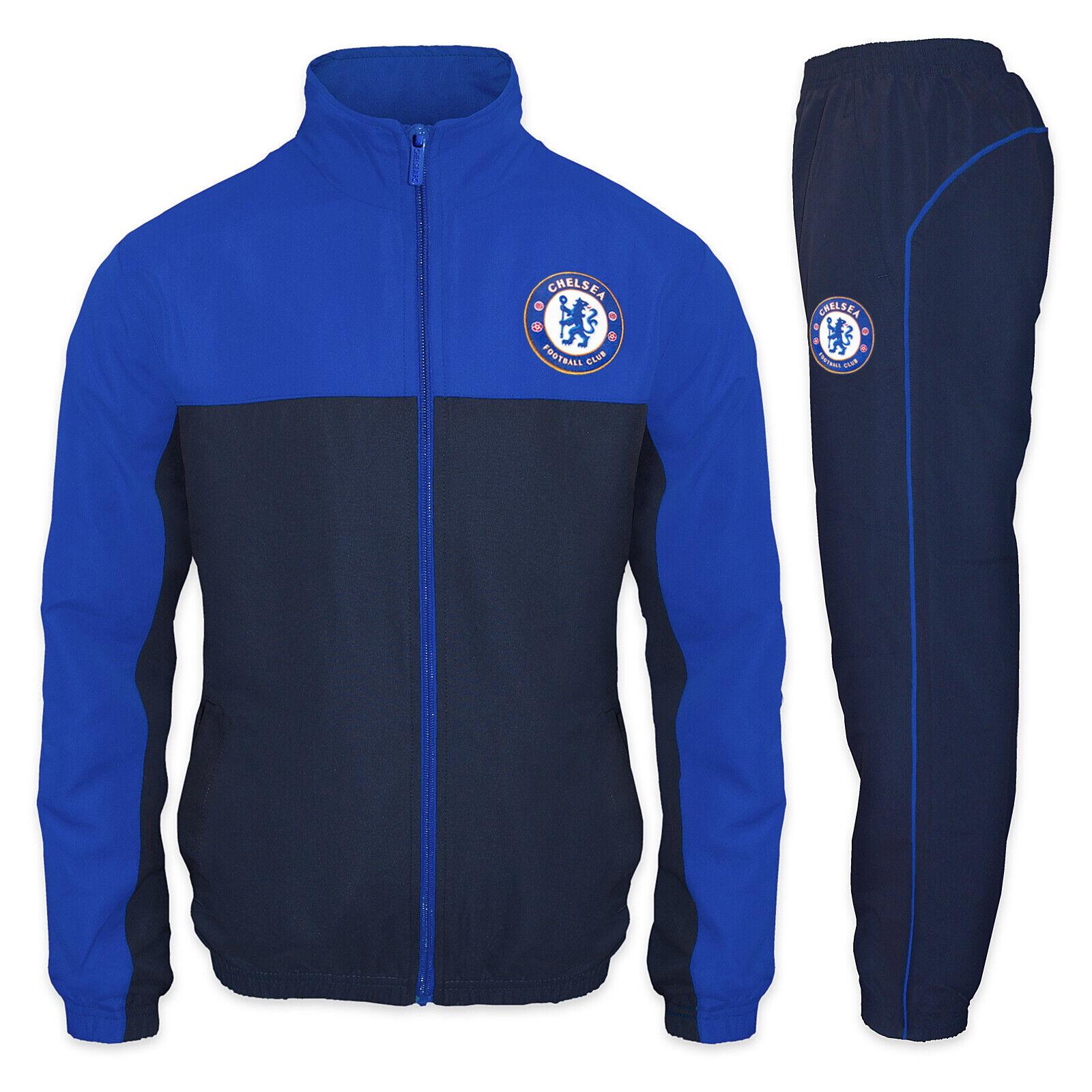 Chelsea FC Mens Tracksuit Jacket & Pants Set OFFICIAL Football Gift
