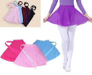 Girls-Kids-Ballet-Dance-Dress-Leotard-Chiffon-Skirt-Party-Dancewear-Costume