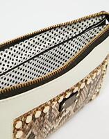 Pauls Boutique Womens Gold Studded Clutch Purse Hand Bag