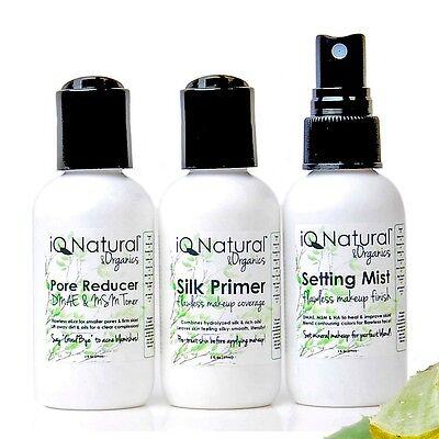 NATURAL FLAWLESS Grt 4 Mineral Makeup Face PRIMEr | FINISH Mist | Pore REDUCEr