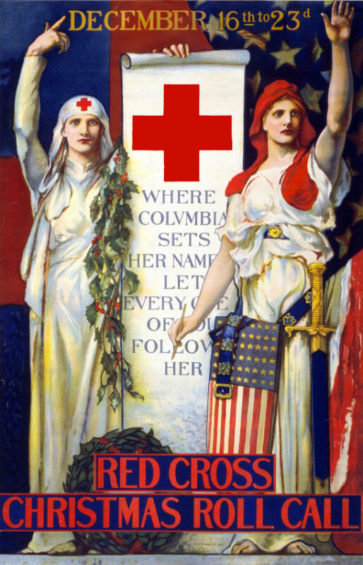 Vintage War POSTER.rosso Cross Nurses.Wall art Decor.Home decoration.1043
