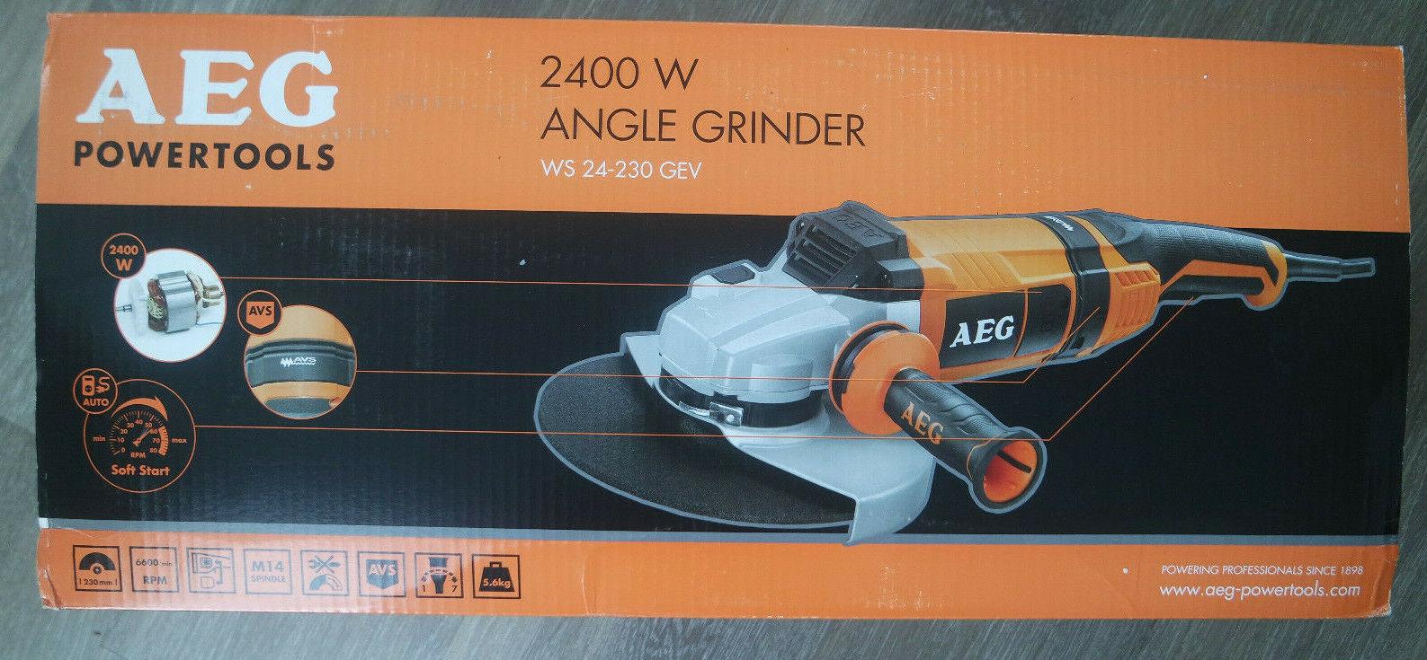 AEG Elektrowerkzeuge Winkelschleifer WS 24-230 GEV Softstart Wiederanlaufsperre