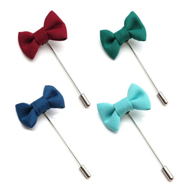 Men Lapel Pins Bow Handmade Boutonniere Stick Brooch Pin Men Accessories SP
