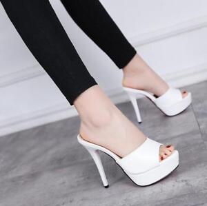 Slipper-Damen-Sommer-High-Stilettos-Heels-Pantolette-Platform-Sandalen