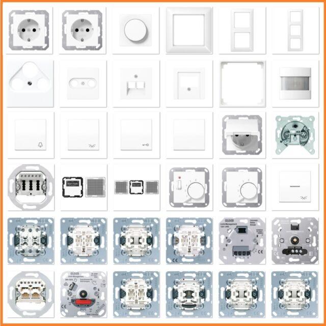 JUNG Serie AS500 AS 500 WW Alpinweiß Weiß USB Steckdose Rahmen Schalter Wippe