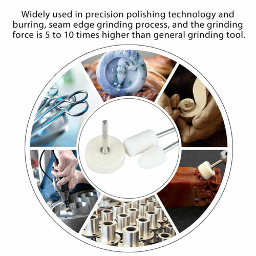 Felt Polishing Buffing Pads Wheel Wool Plastic Dremel Rotary Tool Kit Set 129Pcs