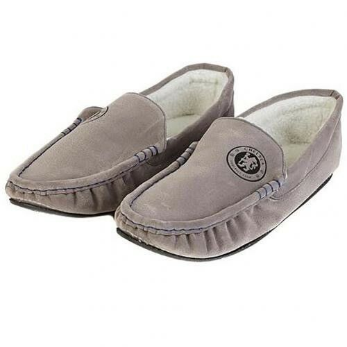 Chelsea Football Club Mens Grey Moccasin Slippers Size 7//8 Free UK PP
