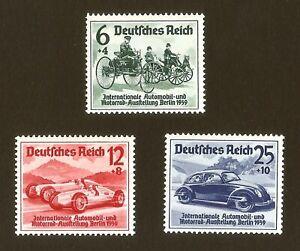 DR-Nazi-3rd-Reich-Rare-WW2-Stamp-Hitler-039-s-Car-Automobile-Exhibition-1939-Machine