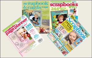 4 Mini /'SCRAPBOOK/' Magazines Barbie Blythe Fashion Doll size 1:6 playscale