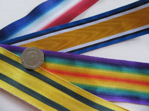 Victory /&  TFWM replacement medal ribbon x 1 Metre BWM 14//15 Star