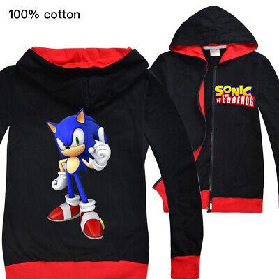 Sonic The Hedgehog Boys And Girls Zipper Jacket Children S Cardigan Jacket Ebay