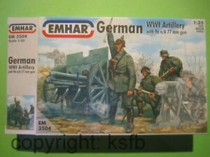 1-35-1-32-Emhar-3504-WKI-Deutsche-Artillerie-Kanone-96-n-A-77mm-Bedienung