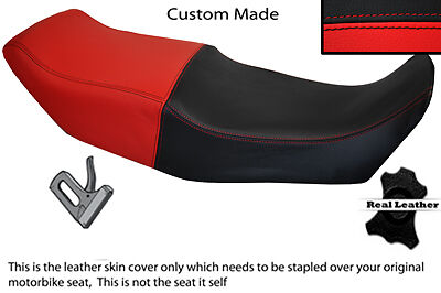 RED /& BLACK CUSTOM FITS BMW K75 K100 K1100 DUAL REAL LEATHER SEAT COVER