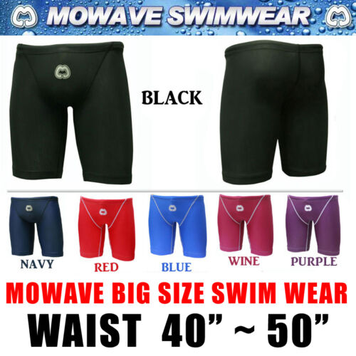"Mowave Big size swim wear pants trainning shorts athletic tight waist 40""50"""