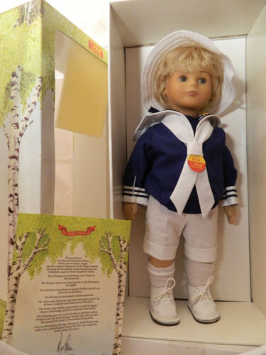9210/42 Nr Steiff Puppe Bernd Stoffpuppe 42 cm 1987