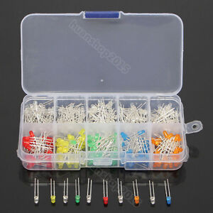 300pcs-10-value-Five-Colors-3mm-Round-Bright-Light-LED-Diode-Lamp-Assortment-kit