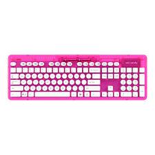 ROCK CANDY Wireless Keyboard Azerty Pink clavier sans fil pour PC / MAC NEW