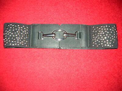 Compiacente Nuova Cintura Moda Donna Ragazze 10/12/14 Lether Con Elastico Biker Rock Chick Goth-