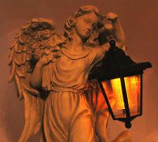 Kunstvolle skulptur Engel figur Träumendes Engels-Mädchen Solar - LED - Laterne