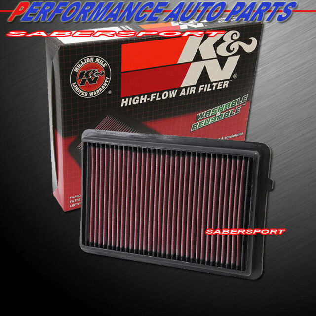 K&N 33-2489 Hi-Flow Air Intake Washable Drop In Filter For