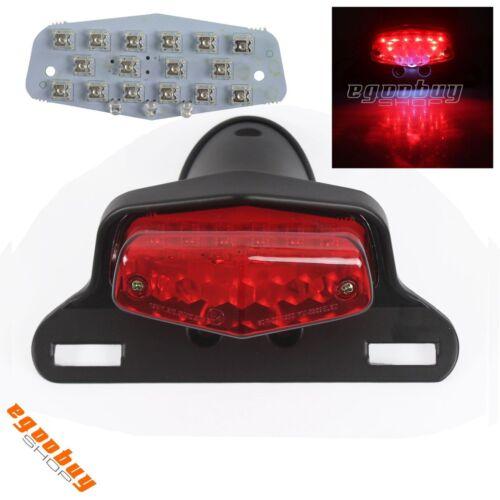 12V Lucas LED Taillight Lamp License Plate Mount For Harley Honda Suzuki Yamaha